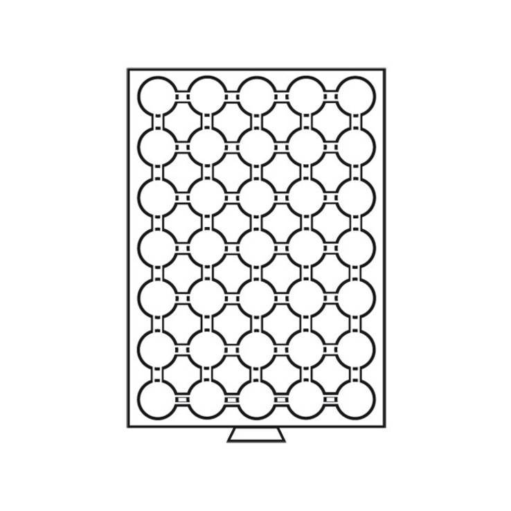 Бокс для монет деревянный (диаметр ячейки 32 мм) Германия, фото №4