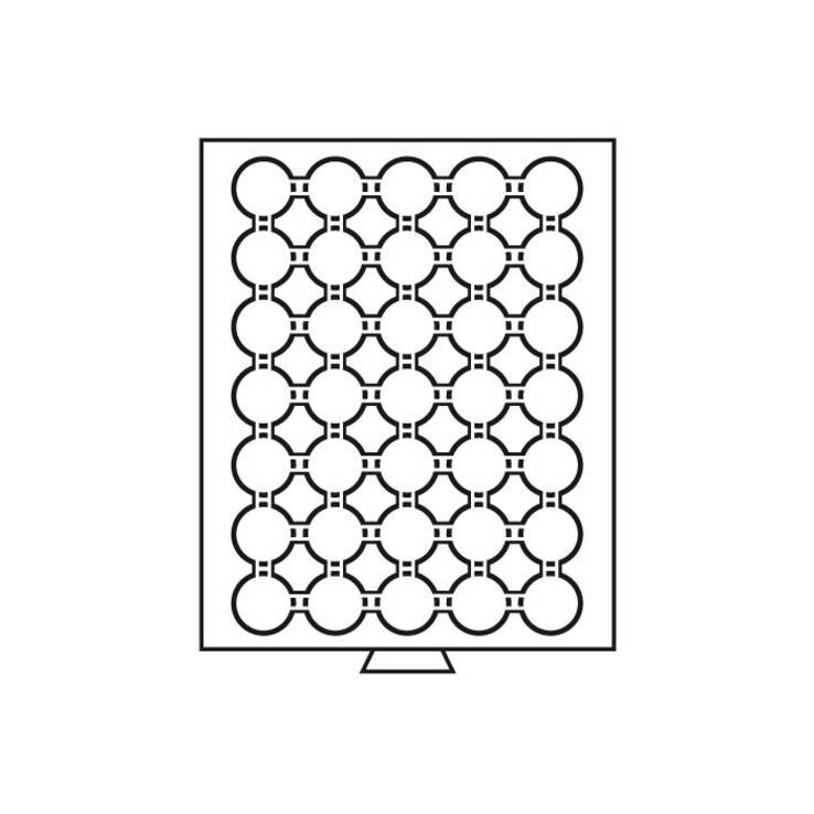 Бокс для монет (диаметр ячейки 34 мм), биметалл НБУ, 50 грн. НБУ золото, фото №3