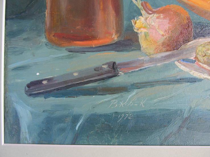 Ковальчук В.''Натюрморт с бутылкой'' 1972г, фото №5