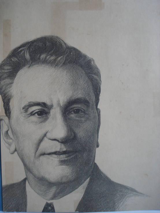 Кунаев Д. А. автолитография, худ. Киреев 1977 г., фото №2