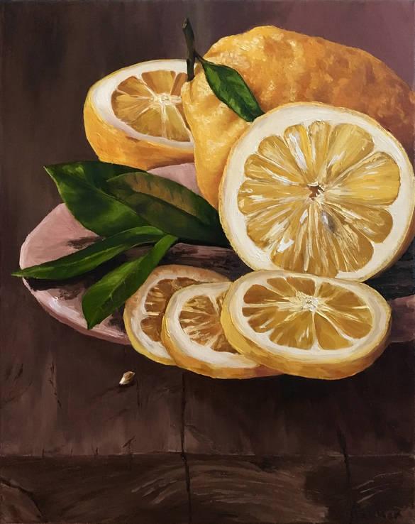 Натюрморт с лимонами, 40*50 см