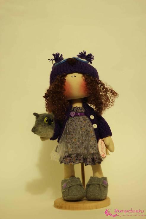 Текстильная кукла Мишель и сова