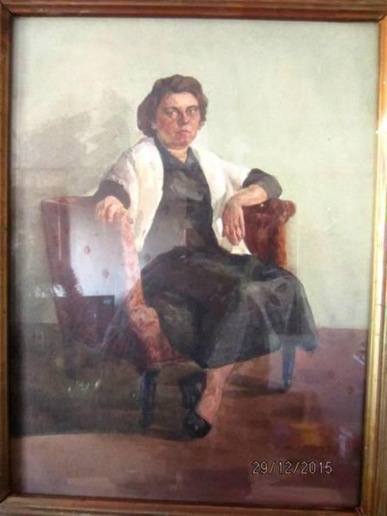 Портрет, художник Бабкова Александра Андреевна, акварель
