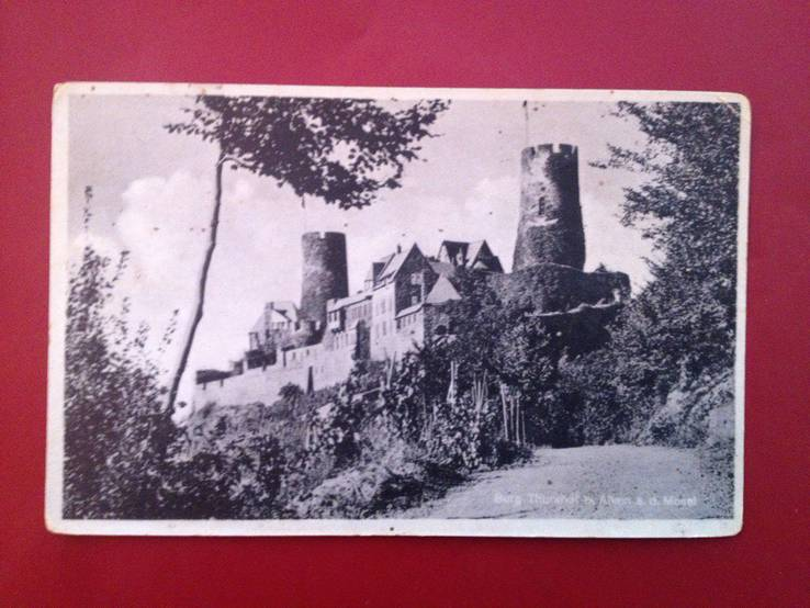"""Открытка """"Burg Thurandt"""" (подписана 13.02.1944г), Германия"""