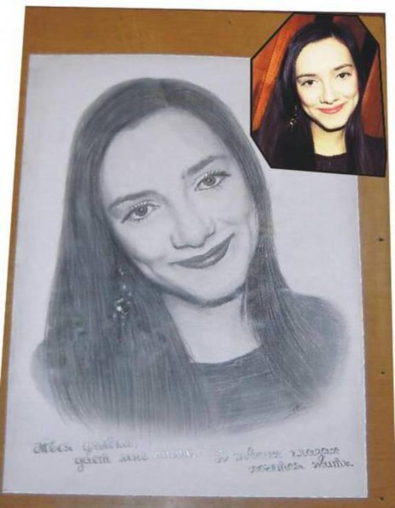 Портрет карандашом по фотографии.