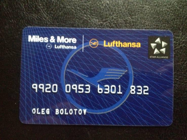 """Банковская карта """"Miles & More"""" (Lufthansa) 832"""
