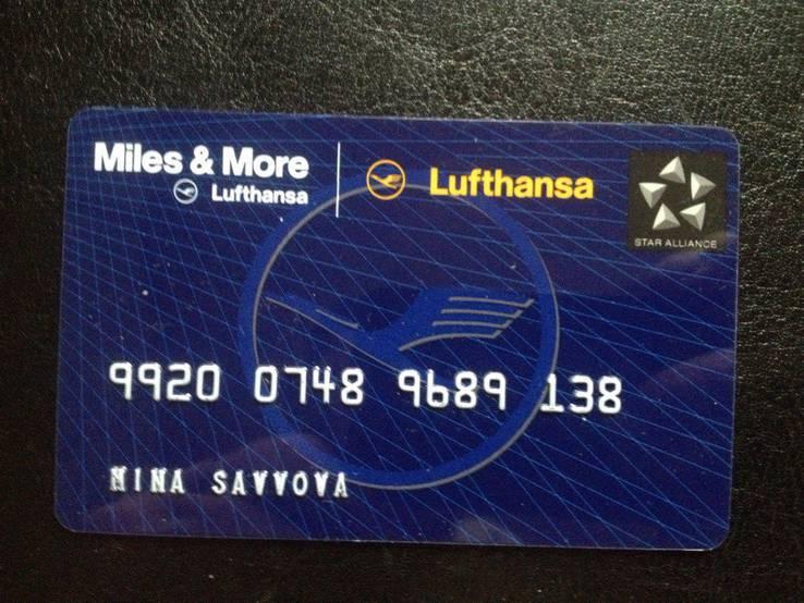 "Банковская карта ""Miles & More"" (Lufthansa) 138, фото №2"