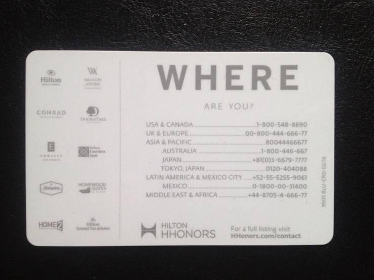 "Дисконтная карта ""Hilton Hhonors"", фото №3"