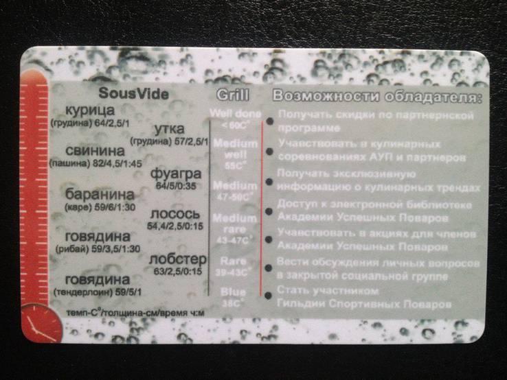 """Клубная карта """"Академия успешных поваров"""", фото №3"""