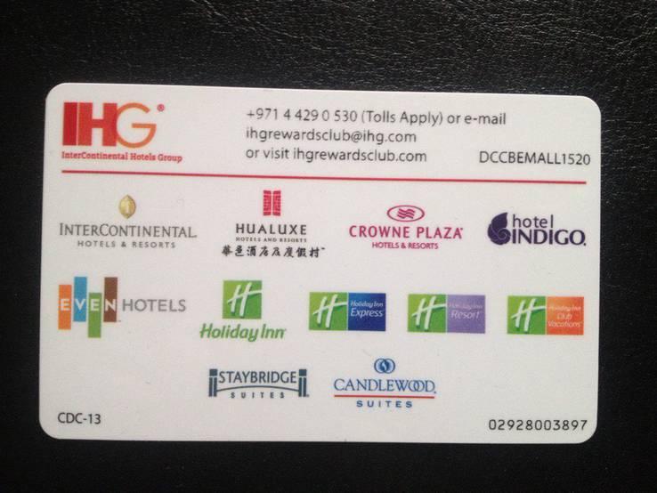 """Готельная клубная карта """"IHG Rewards Club"""", фото №3"""