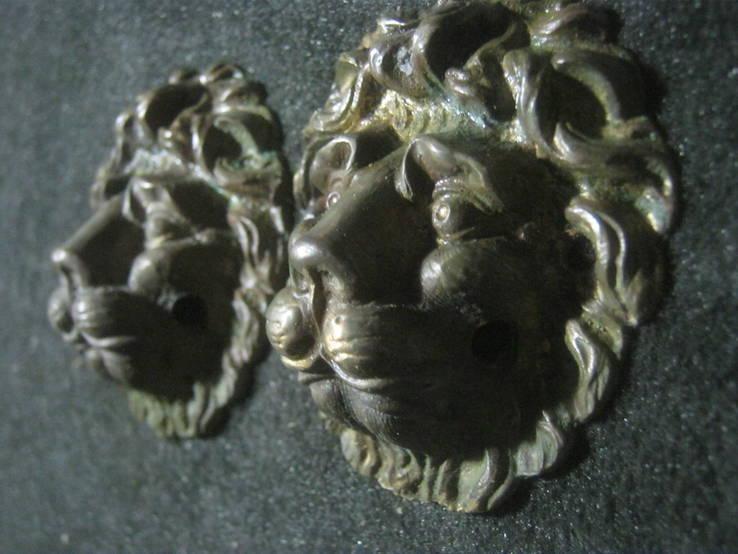 Львы (пара). Дверные ручки без колец.., фото №2
