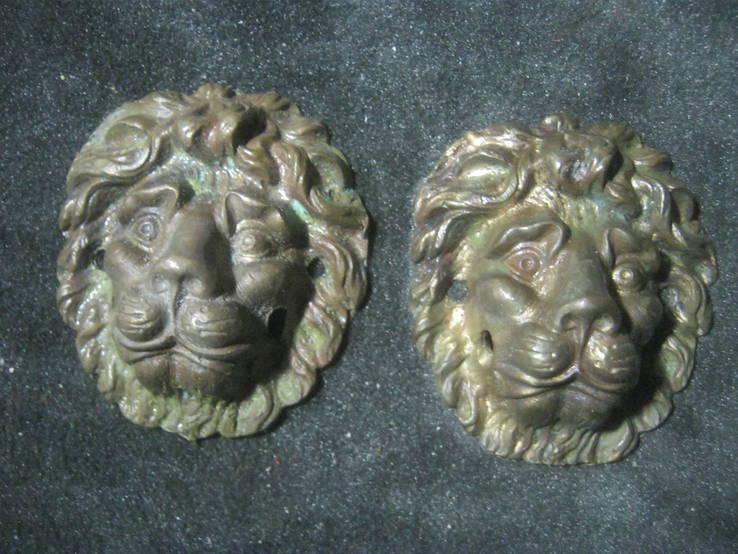 Львы (пара). Дверные ручки без колец.., фото №3