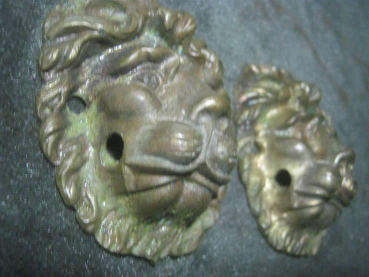Львы (пара). Дверные ручки без колец.., фото №6