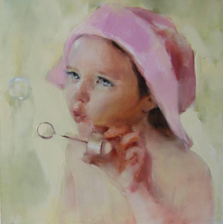 Портрет, живопись на заказ. Работа на холсте, маслом от Яны Голубятниковой.