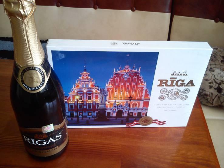 Набір Шампанське оригінальне RIGAS Та Цукорки RIGA Латвія