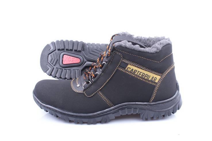 Зимние мужские ботинки Carterpilar эко-нубук , 40р - 26.3см