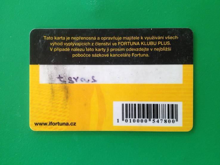 """Дисконтная карта букмекерской конторы """"Fortuna"""" (Чехия), фото №3"""