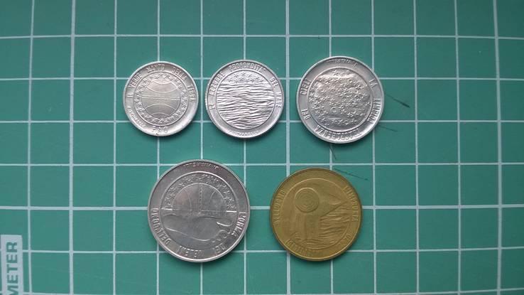 1 L., 2 L., 5 L., 10 L., 20 L. Сан-Марино Repubblica di San Marino 1977, фото №2