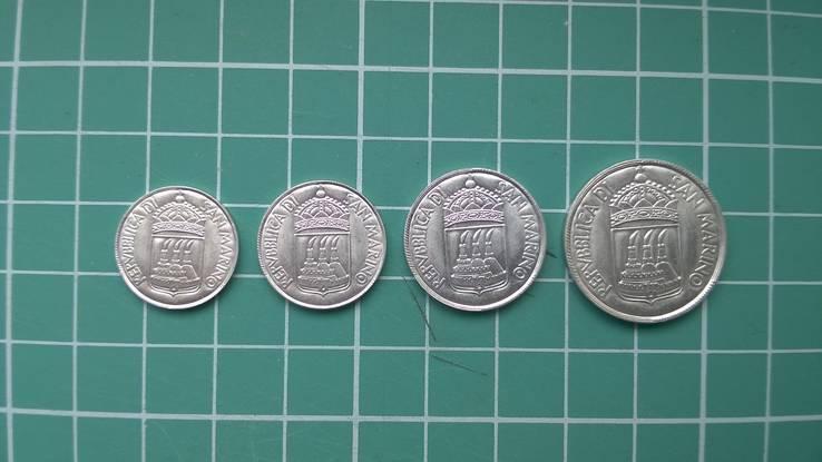 1 L., 2 L., 5 L., 10 L. Сан-Марино Repubblica di San Marino 1973, фото №3