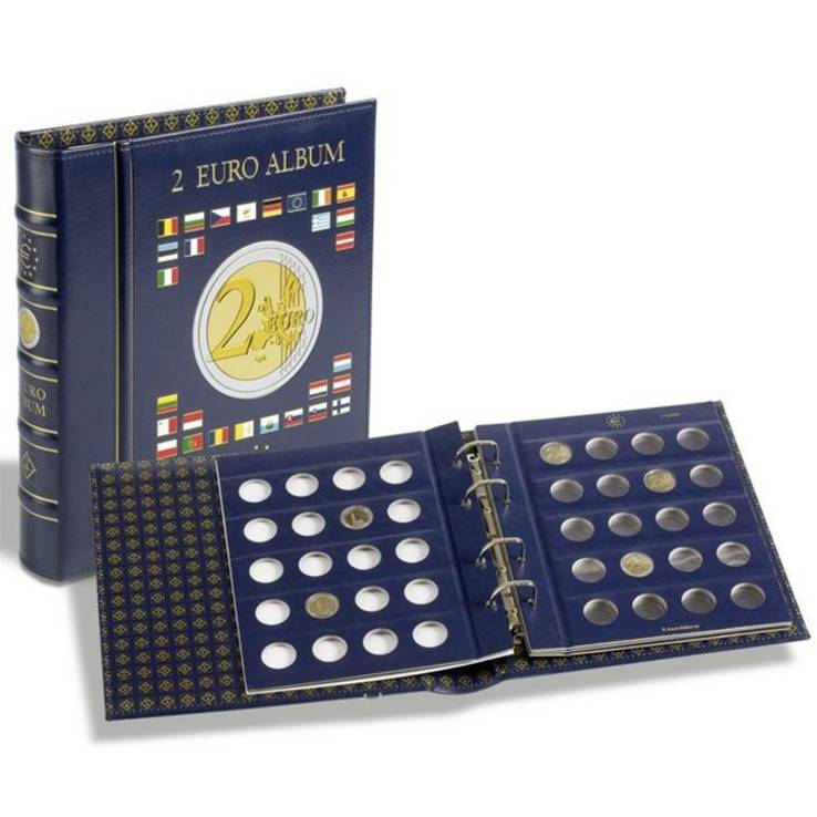 Альбом VISTA для монет номиналом в 2 евро с футляром