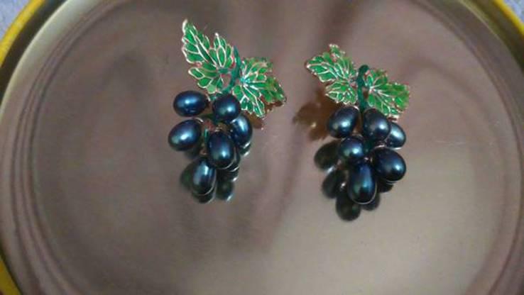 Серьги с таитянским жемчугом, фото №4