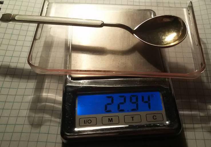 Ложка серебряная в эмалях для сахара или специй 1, фото №5