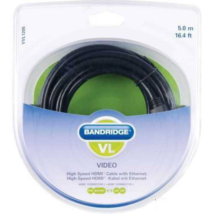 Кабель BANDRIDGE ValueLine VVL1205 HDMI Cable 5m