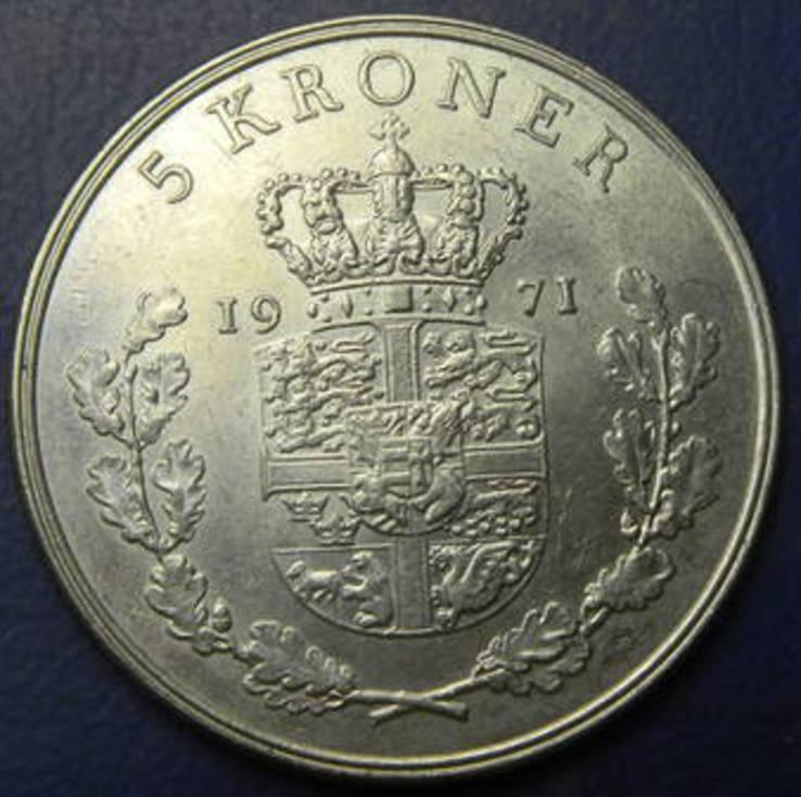 5 крон Данія 1971, фото №2
