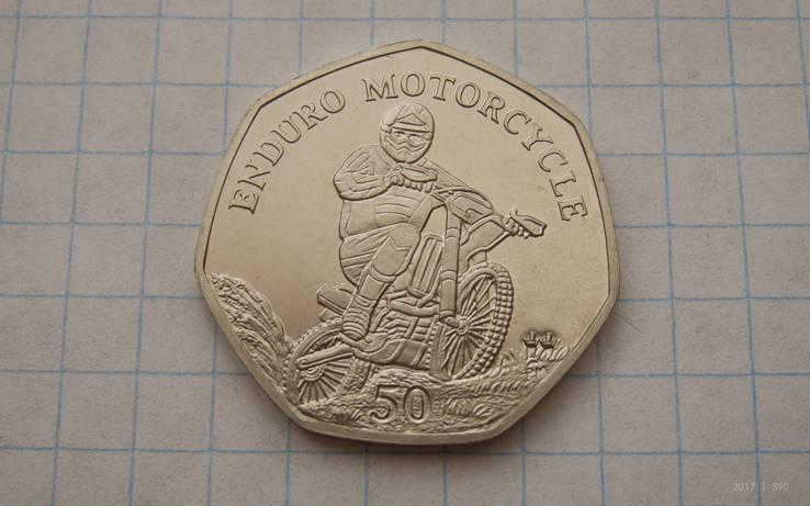 Британский остров Мен 50 пенсов 2012 Эндуро