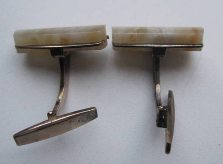 Запонки из СССР серебро 875, фото №3