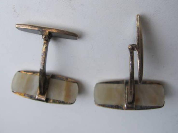 Запонки из СССР серебро 875, фото №6