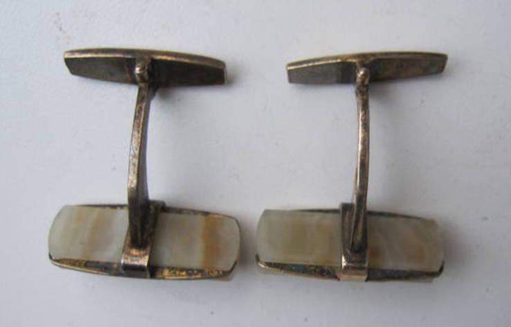 Запонки из СССР серебро 875, фото №7