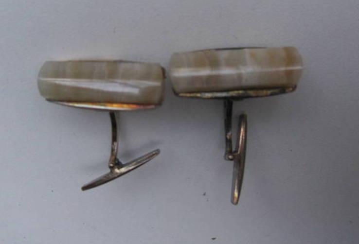 Запонки из СССР серебро 875, фото №11