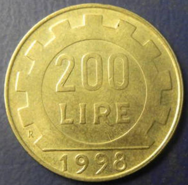 200 лір Італії 1998, фото №3