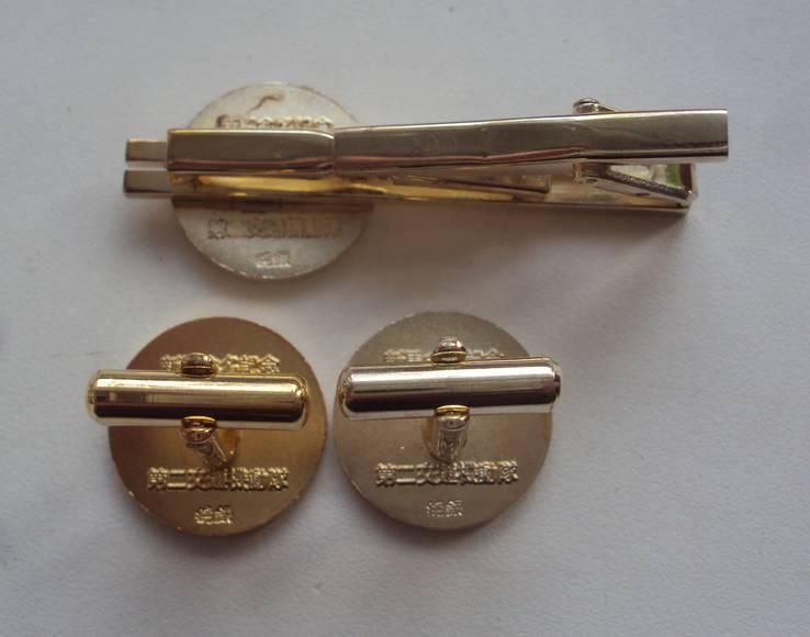 Серебряные запонки и зажим, дорожная патрульная полиция Японии., фото №4