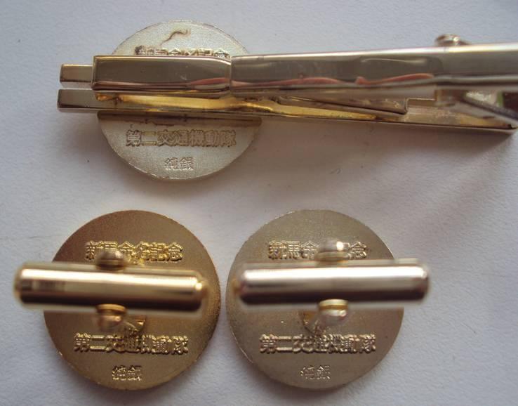 Серебряные запонки и зажим, дорожная патрульная полиция Японии., фото №5