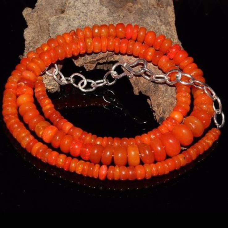 Ожерелье из натуральных опалов, фото №2