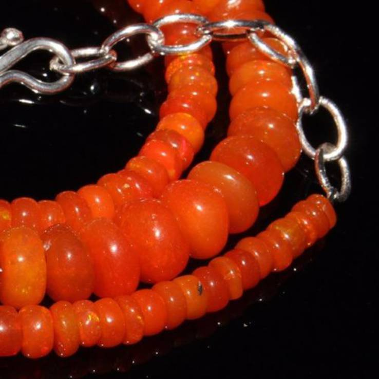 Ожерелье из натуральных опалов, фото №3