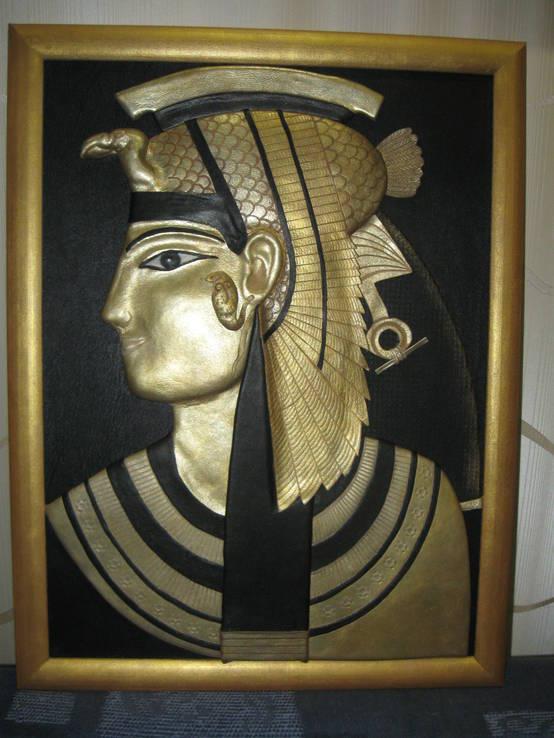 """Картина из натуральной кожи """"Клеопатра"""", фото №2"""