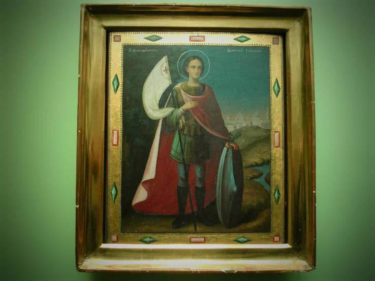 Икона Дмитрий Солунский в киоте