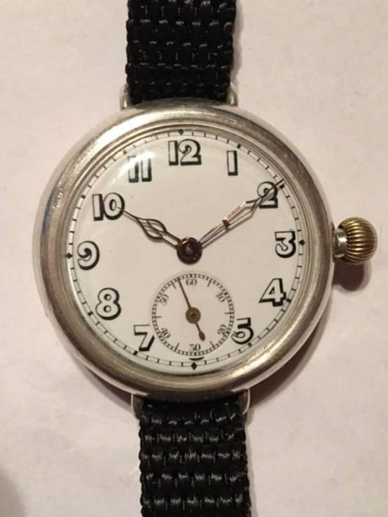 Часы антикварные, серебро.