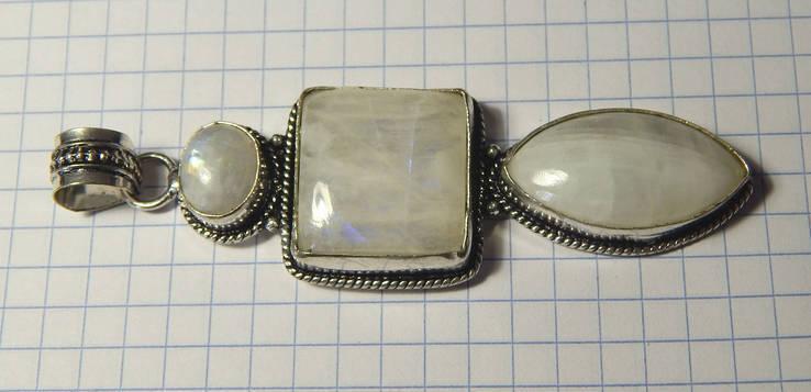 Кулон адуляр лунный камень, фото №6