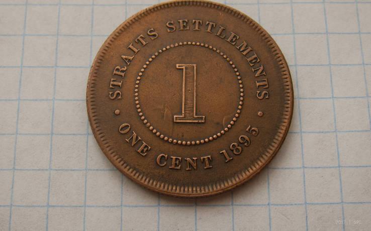Стрейт Сеттлментс 1 цент 1895 Виктория