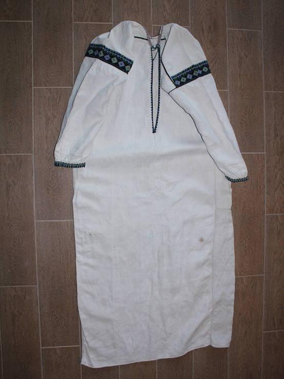 196 Старовинна сорочка вишиванка, фото №2