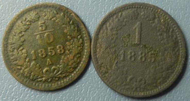 Монети Австро-Угорщини (крейцери), фото №2