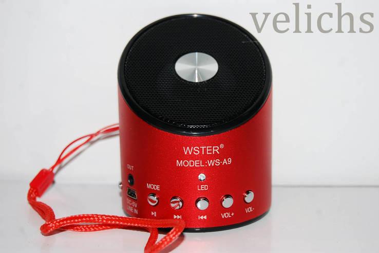 Портативная колонка WS-A9 (цвет красный)