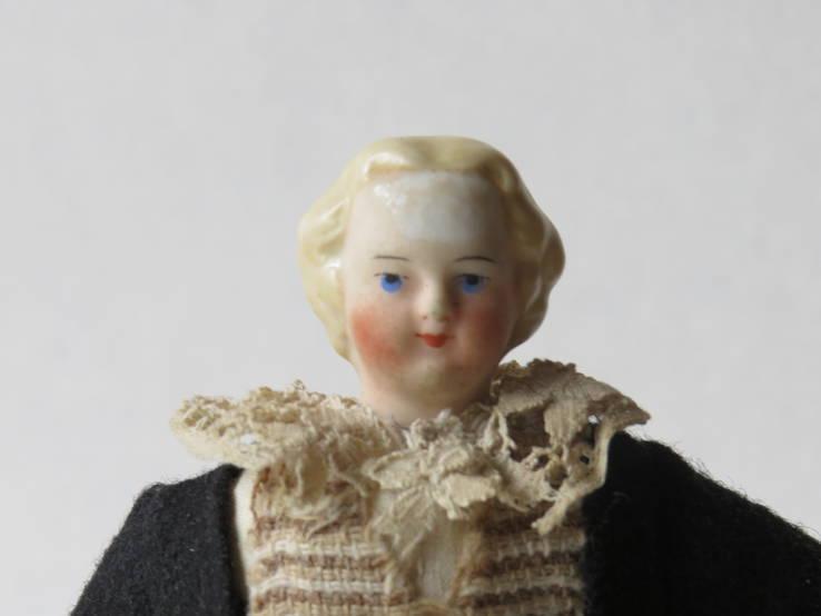 Старинная кукла пастушок в соломенной шляпе  с фарфоровой головой ., фото №10