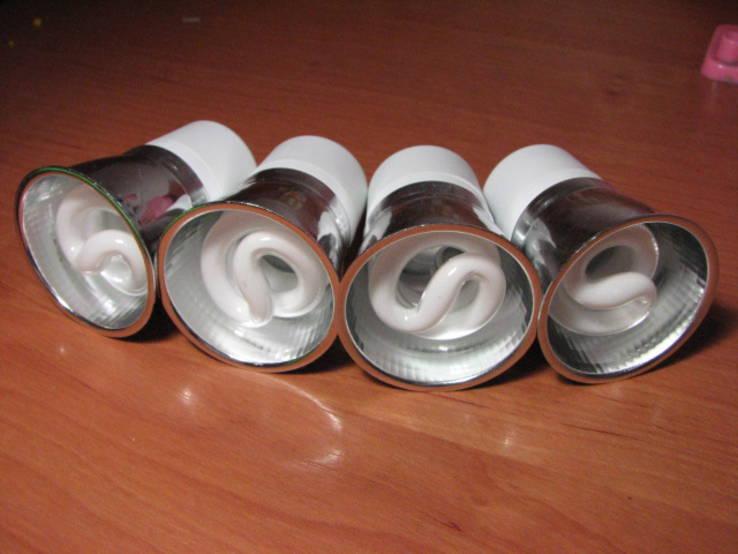 Лампочки энергосберегающие для точечных светильников (Лот - 4 шт).