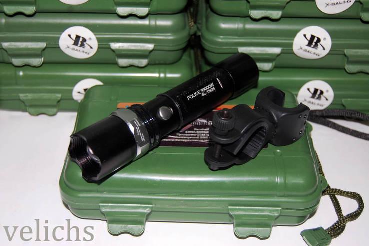 Фонарик аккумуляторный POLICE BL-T8626 99000 W с универсальным креплением