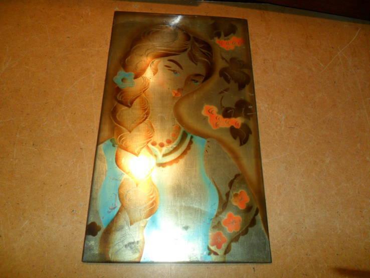Картина на металле Девушка СССР, фото №2